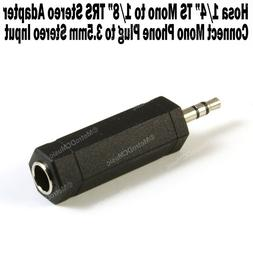 """Hosa 1/4"""" TS Mono Female to 1/8"""" TRS Stereo Male Adapter 3.5"""