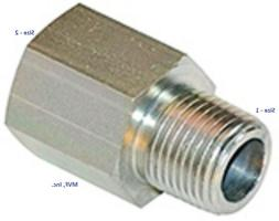 """1/8"""" Male NPT x 1/8"""" Female NPT Straight Pipe Adapter Plated"""