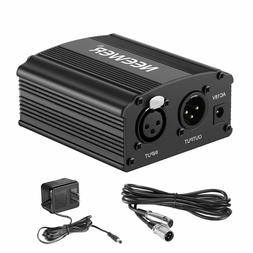Neewer 1-Channel 48V Phantom Power Supply with Adapter, BONU