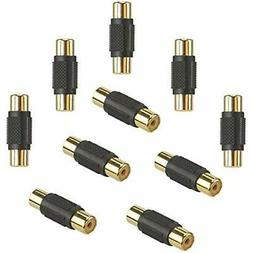 10 Pack Connectors & Adapters Audio Video RCA Female Coupler