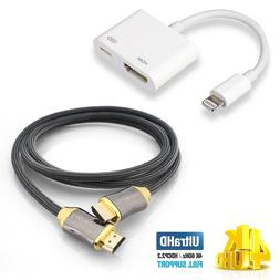 1080P 8 Pin Lightning to HDMI TV AV Adapter Cable for iPhone