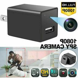 HD 1080P Camera USB Wall Charger Adapter Video Recorder Secu