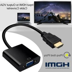 1080P HDMI Male to VGA Female Video Cable Converter Adapter