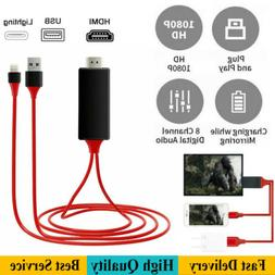 1080P To HDMI Cable Phone To TV HDTV AV Adapter For Apple iP