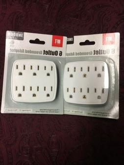 12 Outlet Surge Protector Multi Plug Wall Adapter Tap Free 2