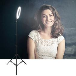 """12"""" Ring Light Kit LED Dimmable with Stand Universal Plug Ad"""