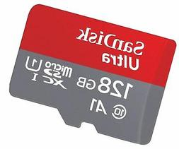 SanDisk 128GB Ultra microSDXC UHS-I Memory Card with Adapter