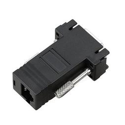 TOOGOO 2 Black VGA Extender Adapter To CAT5/CAT6/RJ45 Cable