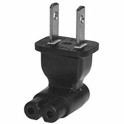 SF Cable, 2 Prong Right Angle Plug Adapter, USA IEC 60320-C7