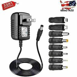 SoulBay 5V 2A AC Adapter Charger Replacement w/ 8 Tips, Vers