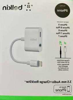 Belkin 3.5mm Audio + Charge RockStar Adapter - White