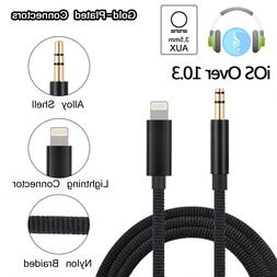 3.5mm Aux Headphone Cable Adapter Audio Jack Extender For iP