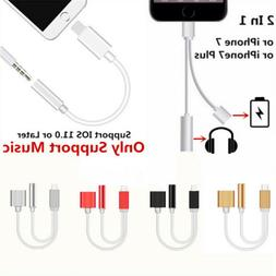 3.5mm Headphone Jack Audio Converter And Charger Adapter For