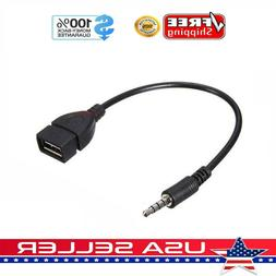 3.5mm Male Audio AUX Jack to USB 2.0 Type A Female OTG Conve