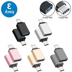3-Pack USB-C Type C 3.1 Male to USB 3.0 Type A Female Adapte