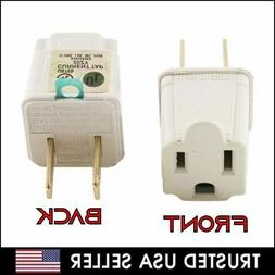 3 Prong to 2 Prong Outlet Electrical Ground AC Adapter Groun
