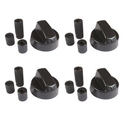 4-Pack Black Generic Design Universal Control Knob With 12 A