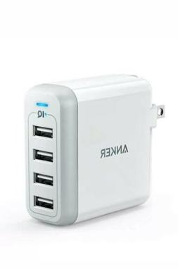 Anker 40W 4-Port USB Wall Charger PowerPort 4 Multi-Port wit