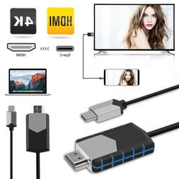 USB Type C to HDMI TV Cable Adapter For Samsung Galaxy Note