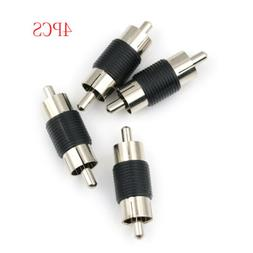 4pcs Straight AV RCA Male to Male Audio Video Connector Coup