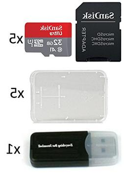 5 Pack - SanDisk Ultra 32GB Micro SD SDHC Memory Flash Card