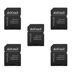 5 Pack -Sandisk MicroSD MicroSDHC to SD SDHC Adapter. Works