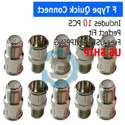Al 5Pcs F Type Female To TV Aerial RF Coaxial Male Connector Adapter Plug