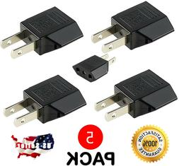 5 Pack US USA Plug Adapter Power Converter AC EU EURO Europe