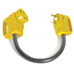 Camco RV Dogbone Electrical Adapter With Easy PowerGrip Hand