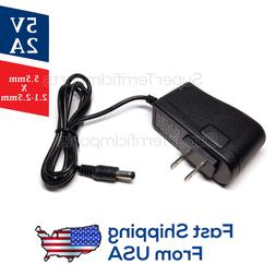 5V 2A Power Supply Adapter, Charger, AC DC Transformer 5.5mm