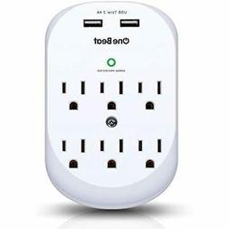 6 outlet surge protector multi wall mount
