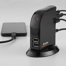 7 Port USB 2.0 Hub Tower With 5V/4A Power Adapter