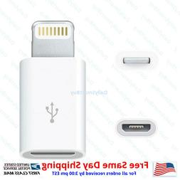 Android Micro USB to 8 Pin Lightning Adapter  for Apple iPho