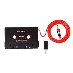 BESDATA Universal Car Cassette Player Adapter with 3.5mm Mal