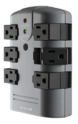 Belkin 6-Outlet Pivot-Plug Wall Mount Power Strip Surge Prot