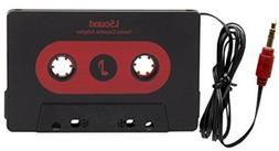 ISound Car Stereo Cassette Adapter - Plays Music From Your A