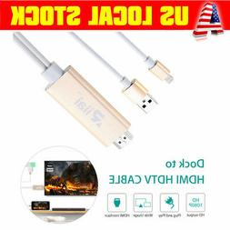 Lightning Connect to HDMI Cable Video Audio Adapter 3D GPU f