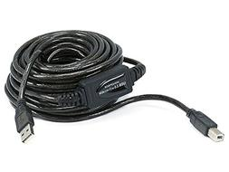 Monoprice 33ft 10M USB 2.0 A Male to B Male Active Cable for