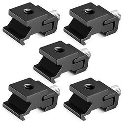 Neewer Black Metal Cold Shoe Flash Stand Adapter with 1/4-in