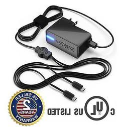 PWR+® 6.5 Ft 5V 4A Rapid Charger Dual AC Adapter Micro-USB