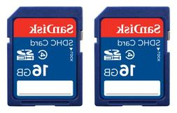 SanDisk 16GB Class 4 SDHC Memory Card, 2 Pack , Frustration-