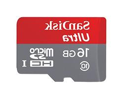 SanDisk Ultra 16GB MicroSDHC Class 10 UHS Memory Card Speed