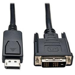 Tripp Lite DisplayPort to DVI Cable Adapter, DP with Latches