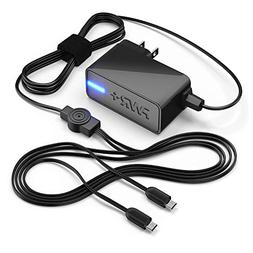 Pwr+ Extra Long 6.5 Ft 4a Rapid Charger Dual Ac Adapter for