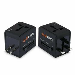 USA US UK AU To EU Europe Travel Charger Power Adapter Conve