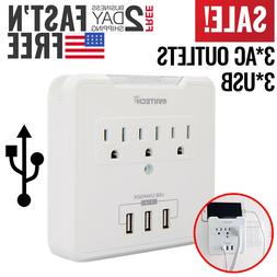 USB Outlet Plug Wall Tap Socket Electrical Charger Surge Pro
