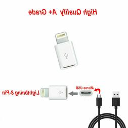 Android Micro USB to 8 Pin Lightning Adapter for Apple iPhon