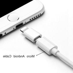 For Android Micro USB to Lightning Adapter Converter For iPh