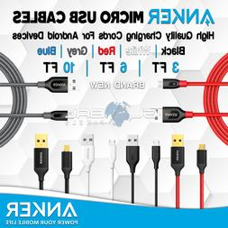 ANKER Android Micro USB Cables 3FT/6FT/10FT Charger Braided