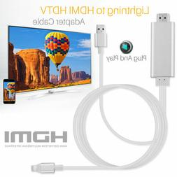 For Apple Lightning Connect to HDMI TV AV Cable Adapter for